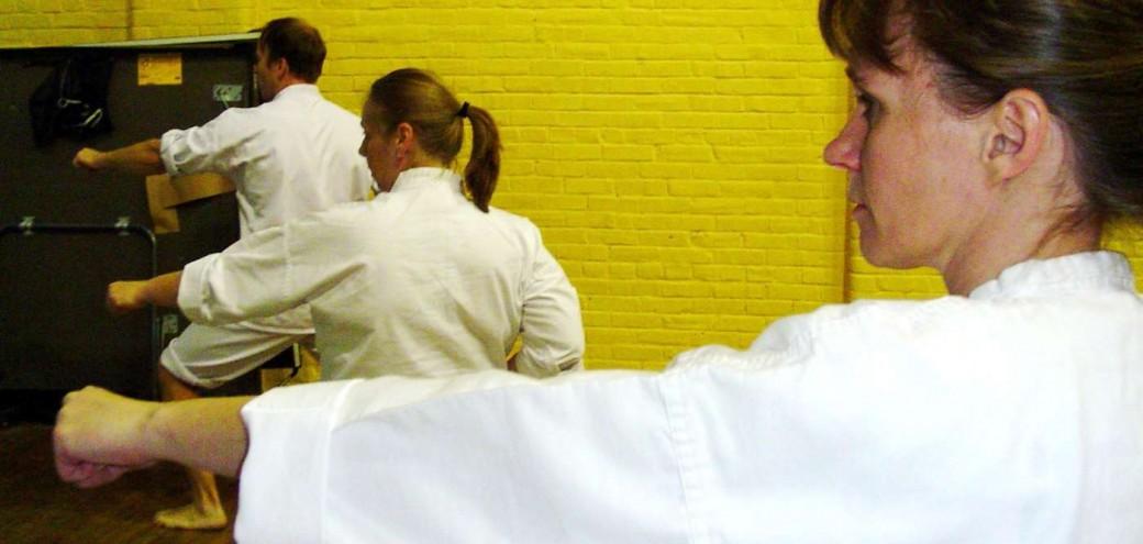 Punching Practice at Philadelphia Shotokan Karate Dojo